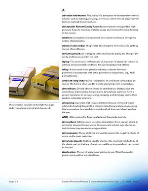 plastic injection molding glossary page 3